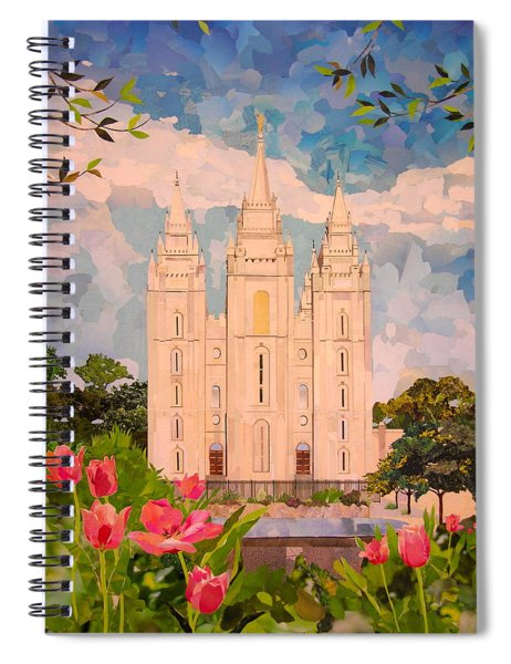 Salt Lake City Temple Spiral Notebook