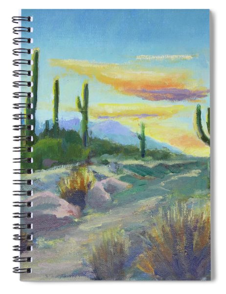 Salutation To The Tucson Sun Spiral Notebook