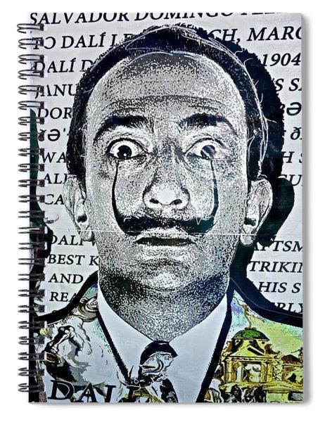 Salvador Dali Spiral Notebook