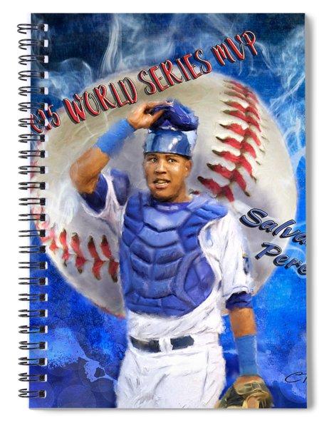 Salvador Perez 2015 World Series Mvp Spiral Notebook