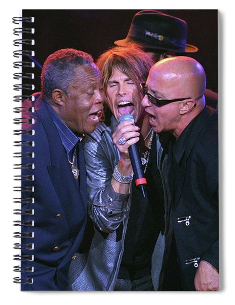 Sam Moore, Steven Tyler And Paul Schaffer Spiral Notebook