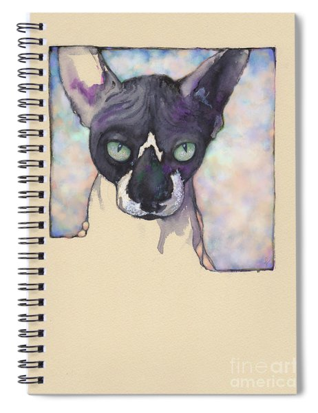 Sam The Sphynx Spiral Notebook