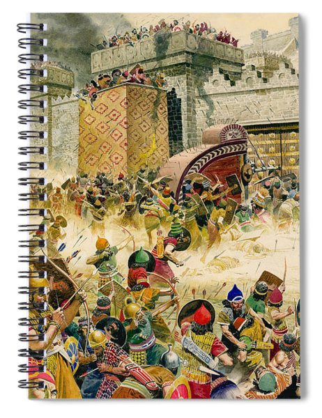 Samaria Falling To The Assyrians Spiral Notebook