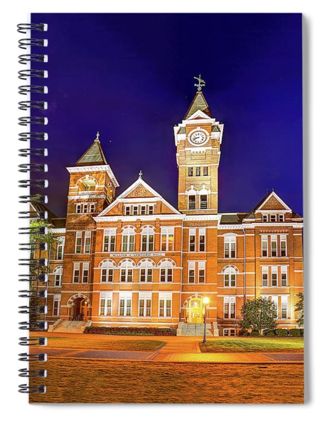 Samford Hall At Night Spiral Notebook