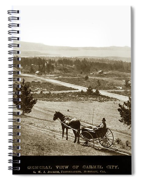 Samuel J. Duckworth Pauses To Look Upon What Would Become Carmel 1890 Spiral Notebook
