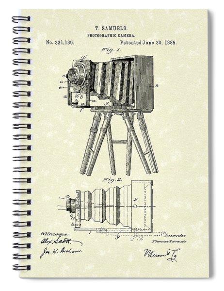 Samuels Photographic Camera 1885 Patent Art Spiral Notebook