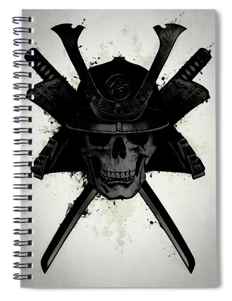 Samurai Skull Spiral Notebook