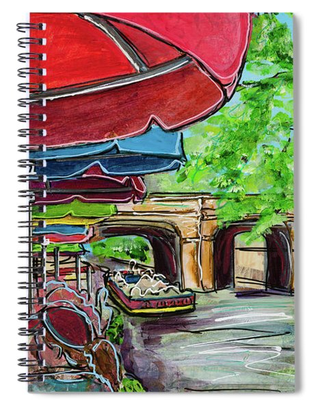 San Antonio River Walk Cafe Spiral Notebook