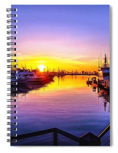 San Diego Harbor Sunrise Spiral Notebook