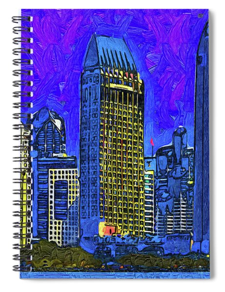 San Diego In Abstract Spiral Notebook