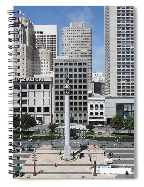 San Francisco . Union Square . 5d17938 Spiral Notebook