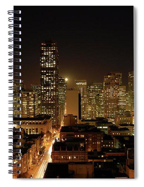 San Francisco At Night Spiral Notebook