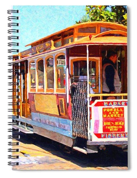 San Francisco Cablecar At Fishermans Wharf . 7d14097 Spiral Notebook