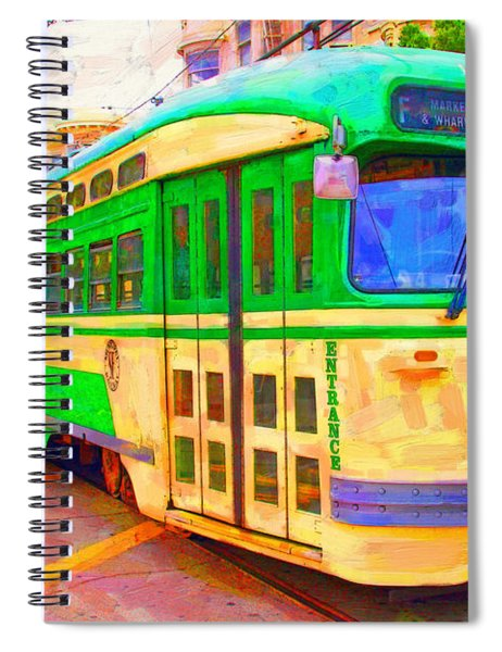 San Francisco F-line Trolley Spiral Notebook