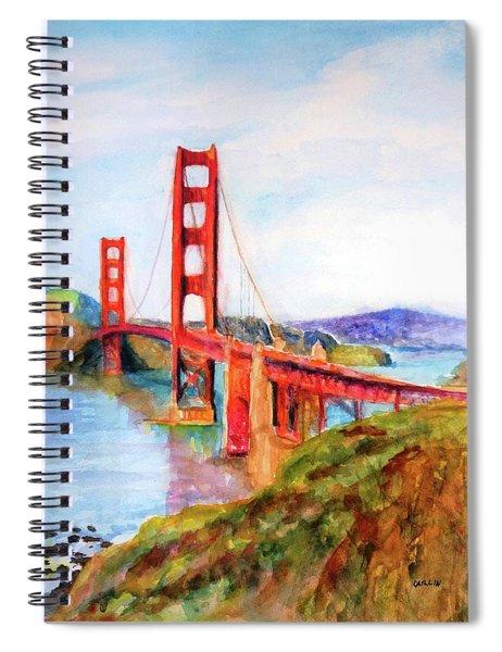 San Francisco Golden Gate Bridge Impressionism Spiral Notebook