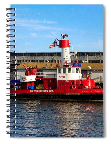 San Francisco Guardian Fireboat No 2 Spiral Notebook