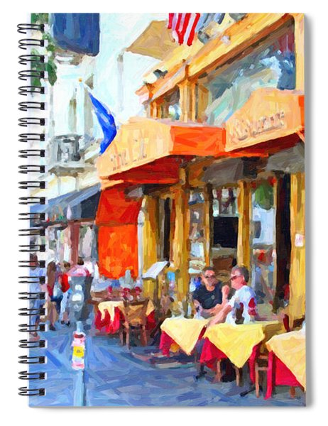 San Francisco North Beach Outdoor Dining Spiral Notebook