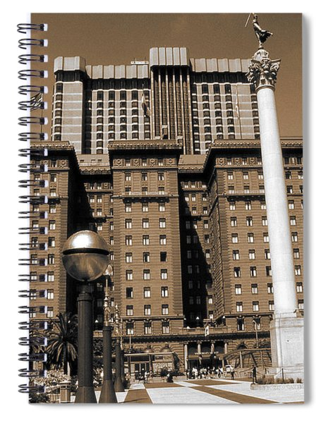 San Francisco Union Square - Vintage Photo Art Spiral Notebook