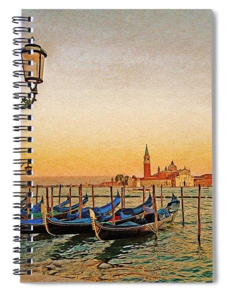 San Giorgio Maggiore Venice Gondolas Spiral Notebook