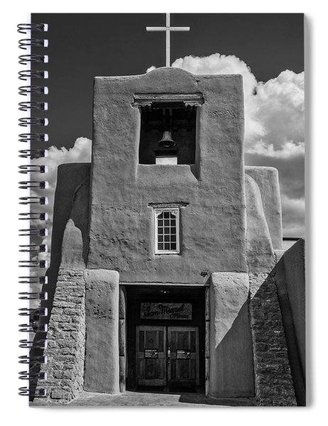San Miguel Mission Black And White Spiral Notebook