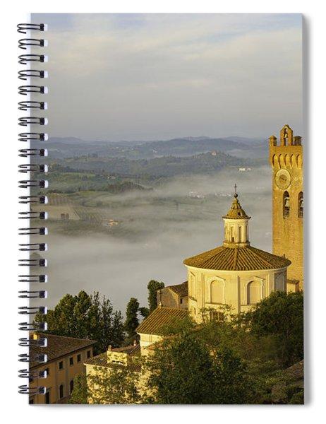 Spiral Notebook featuring the photograph San Miniato by Brian Jannsen