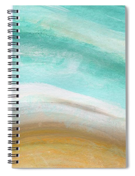 Sand And Saltwater- Abstract Art By Linda Woods Spiral Notebook