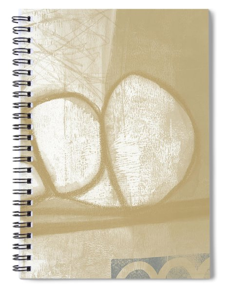 Sand And Stone 1- Contemporary Abstract Art By Linda Woods Spiral Notebook