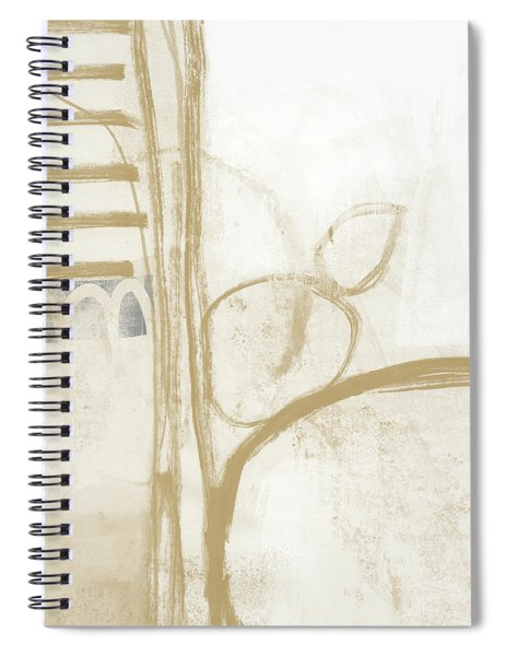 Sand And Stone 3- Contemporary Abstract Art By Linda Woods Spiral Notebook