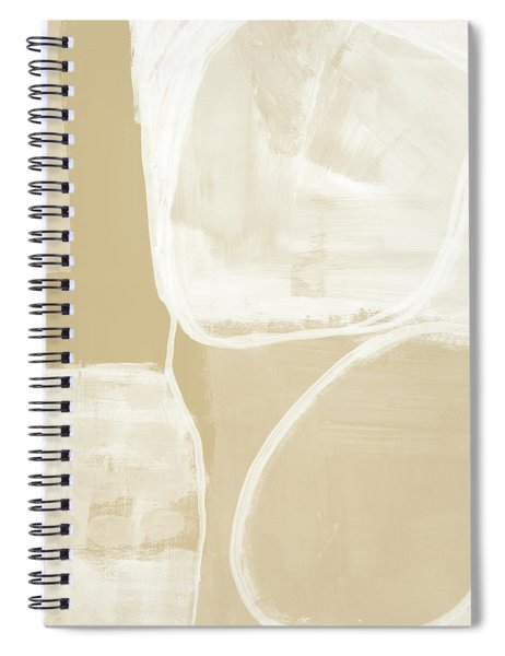 Sand And Stone 5- Contemporary Abstract Art By Linda Woods Spiral Notebook
