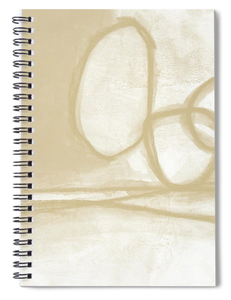 Sand And Stone 6- Contemporary Abstract Art By Linda Woods Spiral Notebook