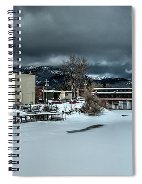 Sand Creek And Cedar Street Bridge Spiral Notebook