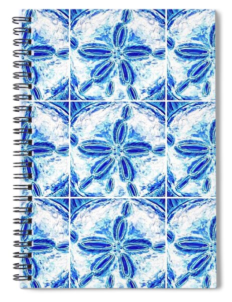 Sand Dollar Delight Pattern 3 Spiral Notebook