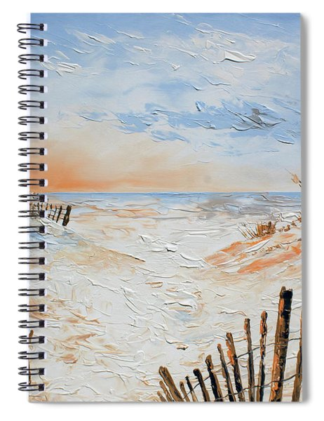 Sand Fences Spiral Notebook