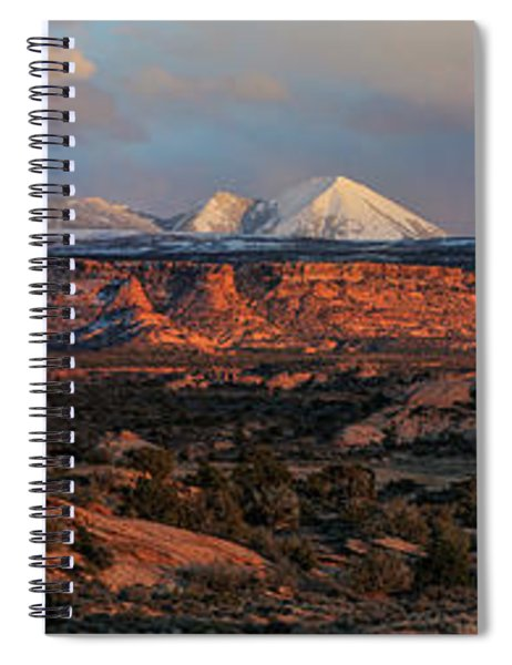Sand Flats Sunset Spiral Notebook