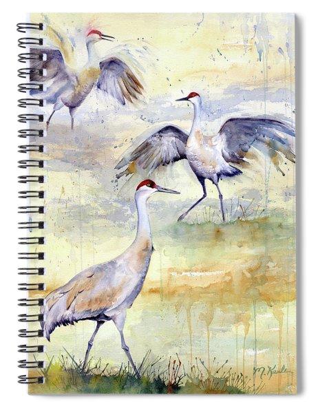 Wetlands Courtship - Sandhill Cranes Spiral Notebook