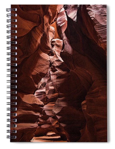 Sandstone Curves Spiral Notebook