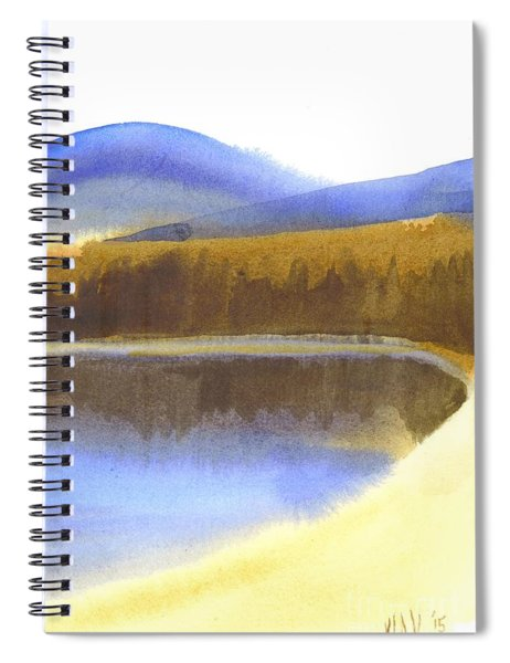 Mythological Mountain Blue Spiral Notebook