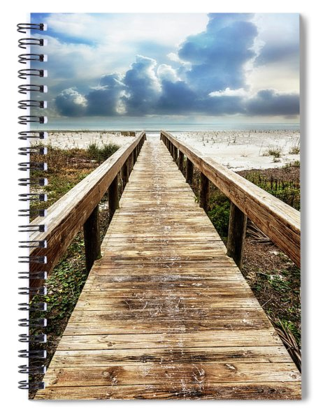 Sandy Boardwalk On The Dunes Spiral Notebook