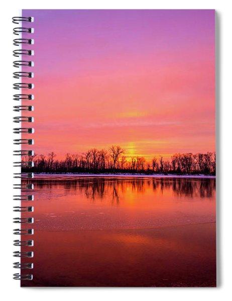 Sandy Chute Sunset Spiral Notebook