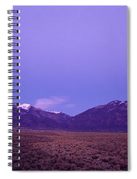 Sangre De Cristo Mountains At Sunset Spiral Notebook