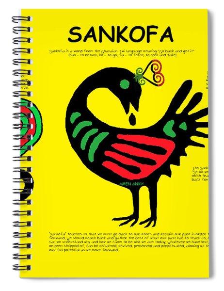 Sankofa Knowledge Spiral Notebook