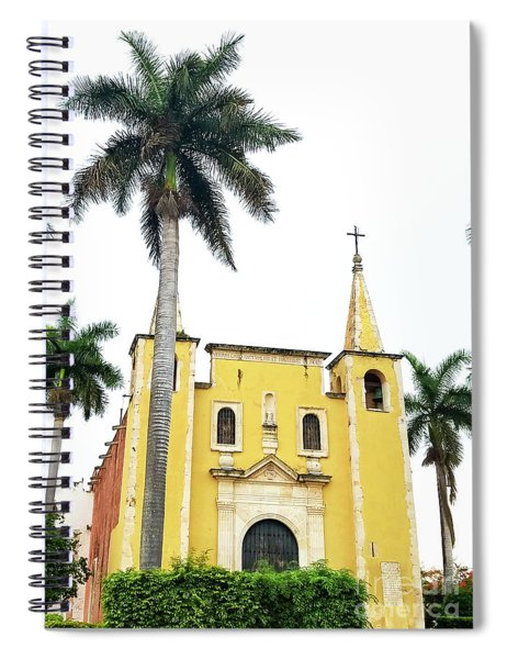 Santa Anna Cathederal In Merida Mexico Spiral Notebook