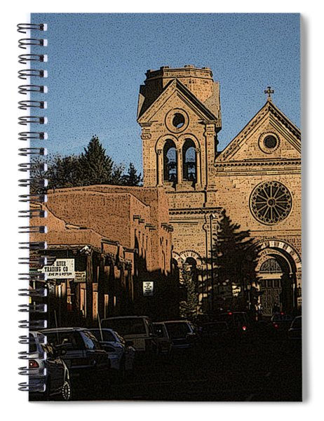 Santa Fe Cathedral New Mexico - Photo Art Illustration Spiral Notebook
