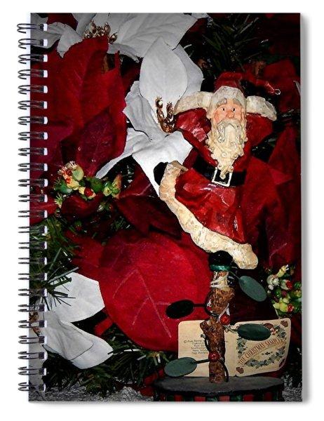 Santa Fling Spiral Notebook