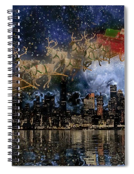 Santa In The City Spiral Notebook