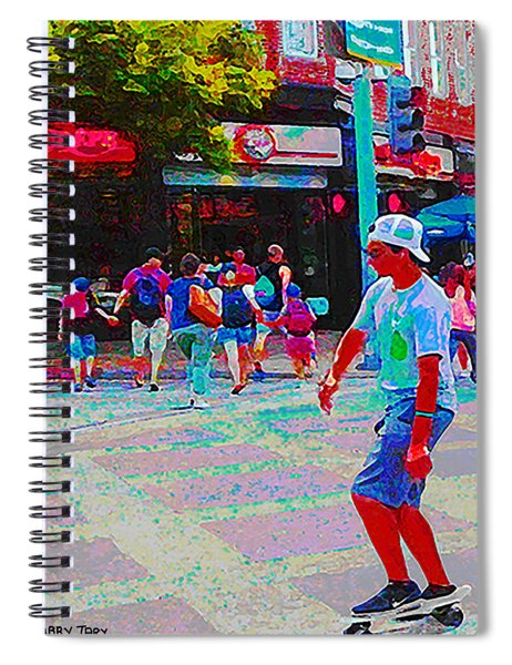 Santa Monica Promenade Spiral Notebook