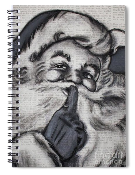 Santa On T'was The Night Before Christmas Spiral Notebook
