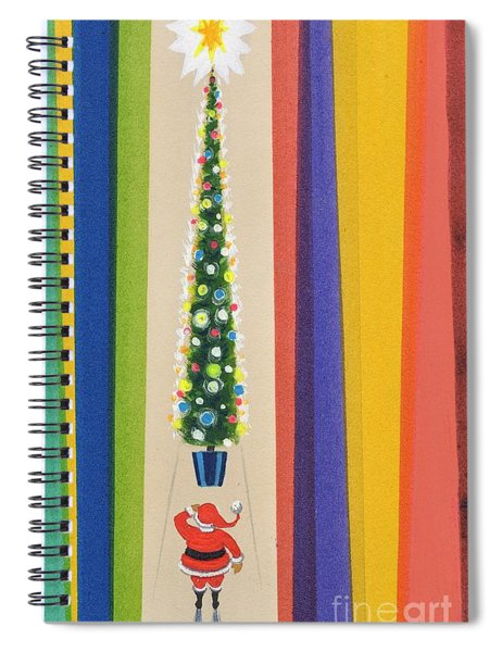 Santa's Christmas Tree Spiral Notebook