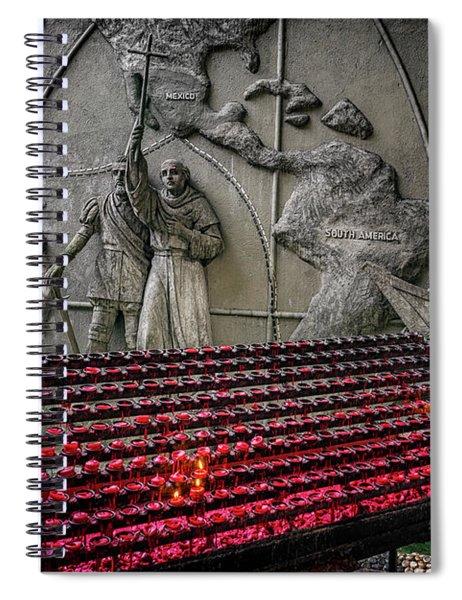 Santo Nino Candles Spiral Notebook