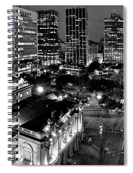 Sao Paulo Downtown - Viaduto Do Cha And Around Spiral Notebook